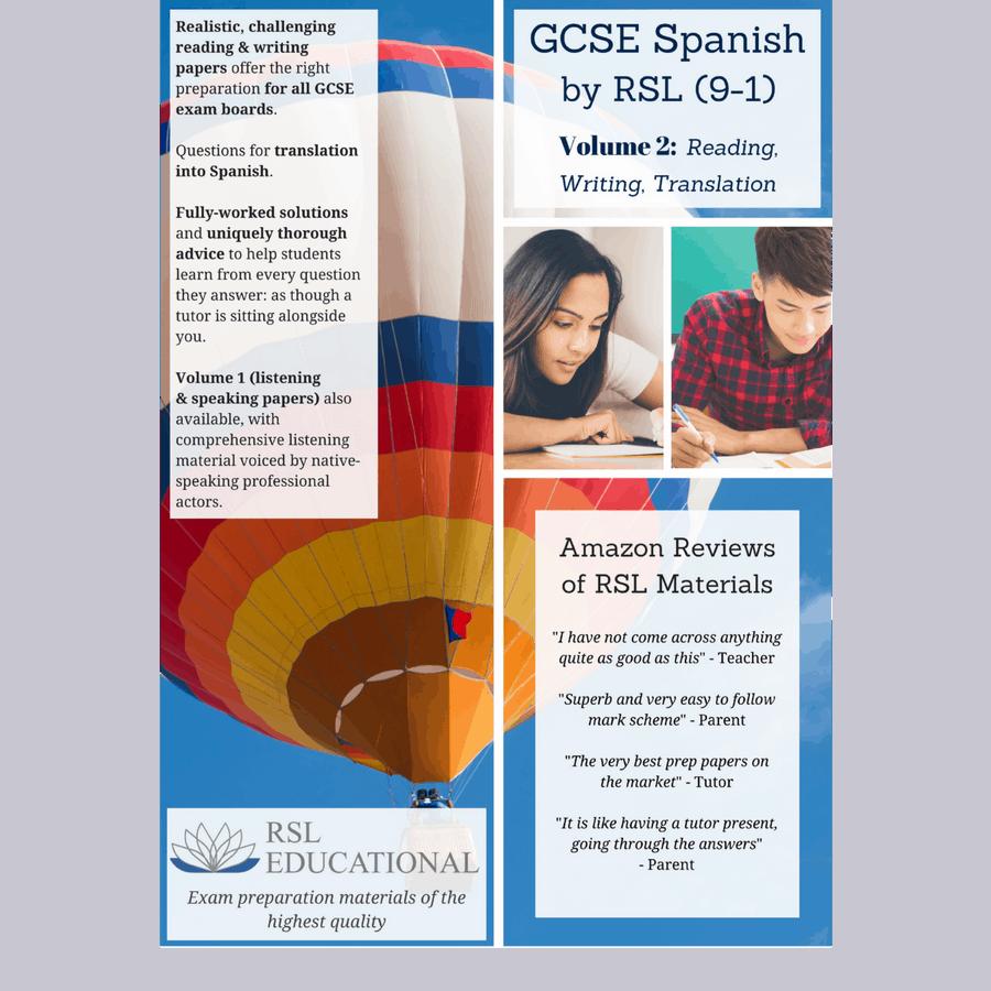 GCSE Spanish by RSL, Volume 2: Reading, Writing, Translation